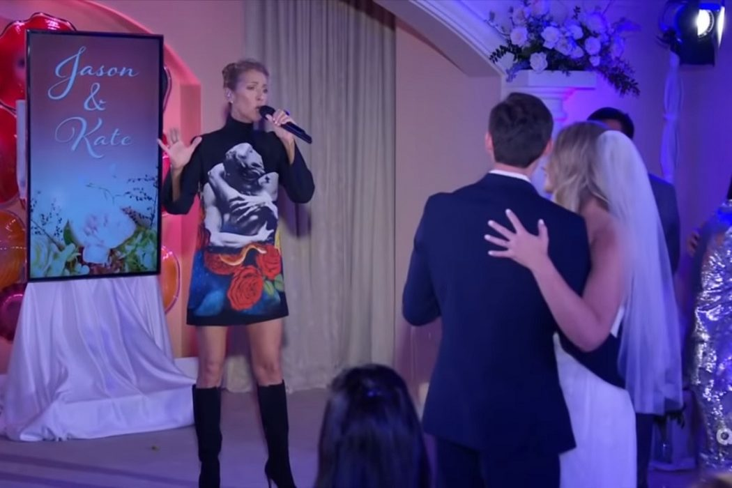 """Celebrities: Céline Dion Serenades Newlyweds with """"Because You Loved Me"""""""