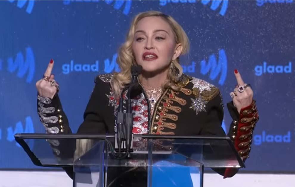 Music: Madonna Delivers Emotional Speech At GLAAD Media Awards