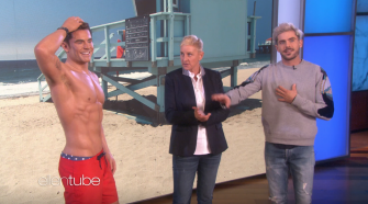 "Watch This: Zac Efron Meets His Madame Tussauds Wax Figure on ""Ellen"""