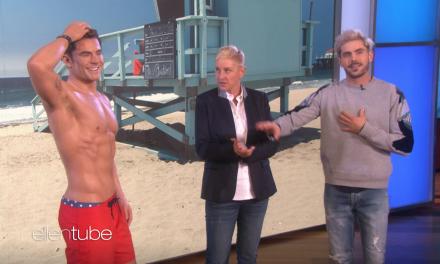 "Watch This: Zac Efron Meets His Madame Tussauds Wax Figure on ""Ellen"""