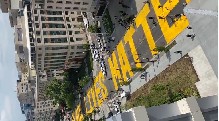 US Street Outside White House Renamed 'Black Lives Matter Plaza'